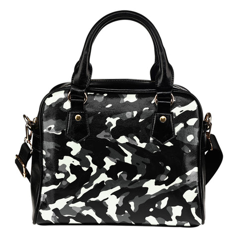 Black Camouflage Shoulder Handbag