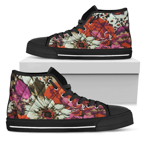 Flowers Bloom in May Women's High Top Shoes