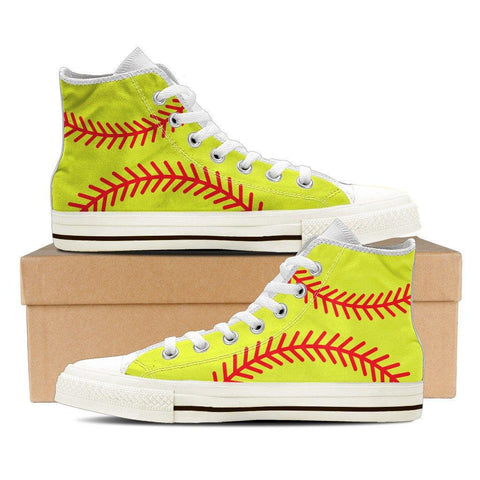 Softball Print Ladies High Top - Spicy Prints