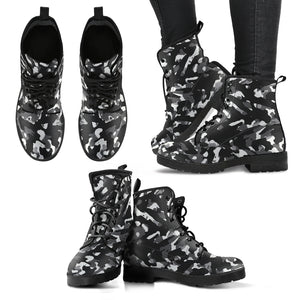 Black Camouflage Womens Boots