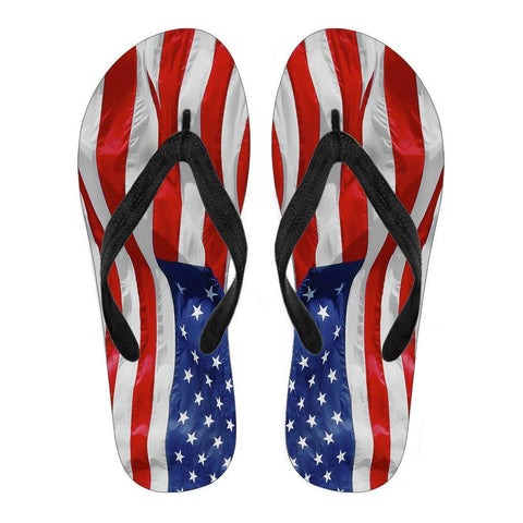 USA Flag Flip Flops - Spicy Prints