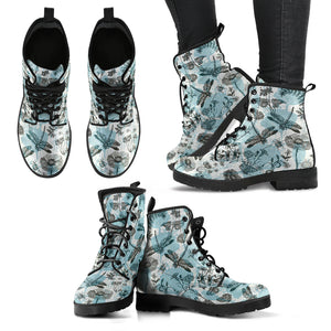 Handcrafted Dragonfly Flowers 2 Boots
