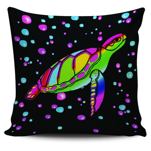 "Sea Turtle 18"" Pillow Cover - Spicy Prints"