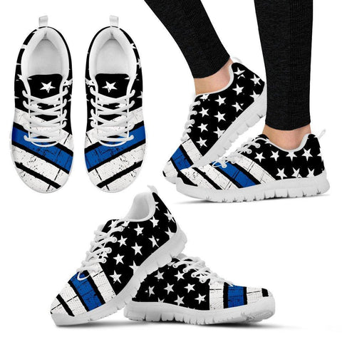 Image of Thin Blue Line Sneakers EXP - Spicy Prints