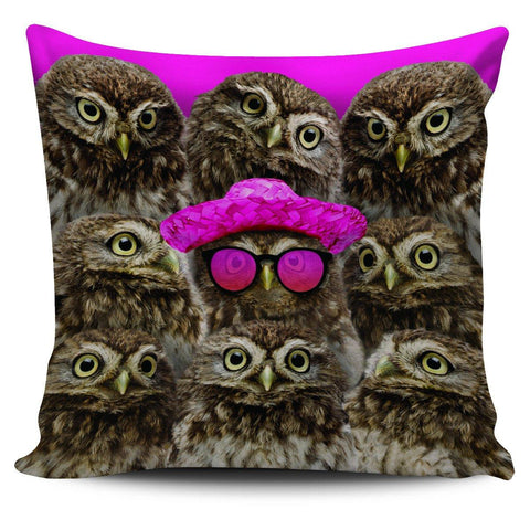 "Image of Oddball Owl 18"" Pillowcase - Spicy Prints"