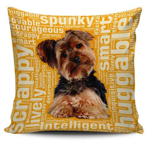 "Yorkie 18"" Pillow Cover - Spicy Prints"