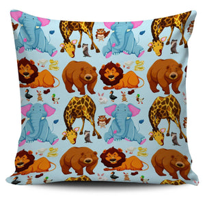 "Cute Animal Print 18"" Pillow Covers - Spicy Prints"
