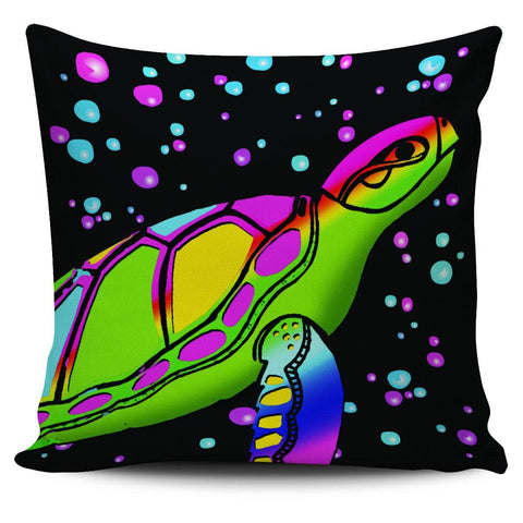 "Image of Sea Turtle 18"" Pillow Cover - Spicy Prints"