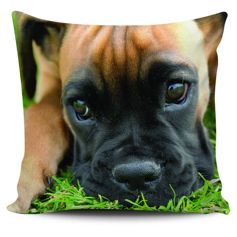 "Boxer Puppy 18"" Pillow Cover - Spicy Prints"