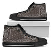 Brown Bandana Style High Tops