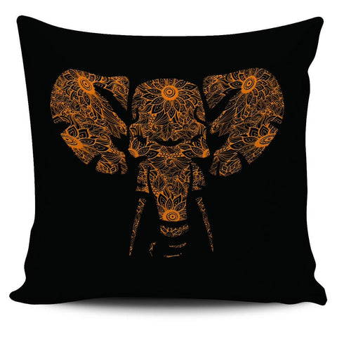 "Floral Elephant 18"" Pillowcase - Spicy Prints"