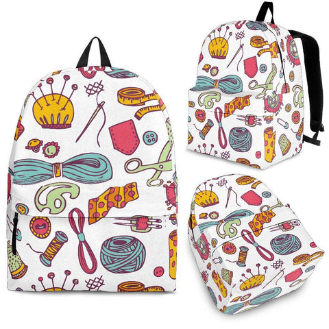 Image of Knitting Lovers Backpack - Spicy Prints