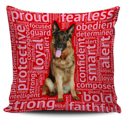 "Image of German Shepherd 18"" Pillowcase - Spicy Prints"