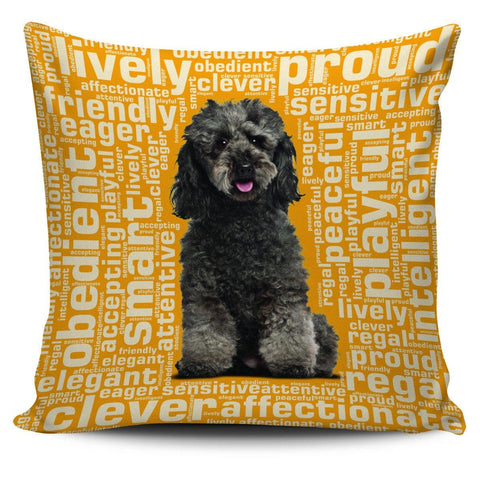 "Image of Poodle 18"" Pillow Cover - Spicy Prints"