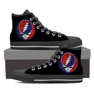Steal Your Face Canvas Print Women's High Top - Spicy Prints