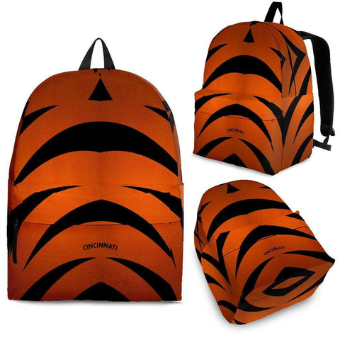 Cincinnati Orange and Black Backpack - Spicy Prints