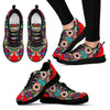 Red Oriental Design Women's Sneakers