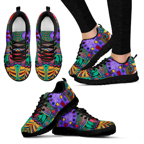 Colorful HandCrafted Artistic Mandala Women's Sneakers