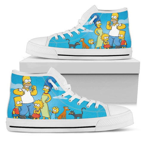 Image of Simpsons Canvas High Tops - Spicy Prints