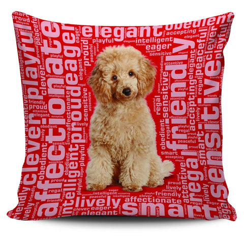 "Poodle 18"" Pillow Cover - Spicy Prints"