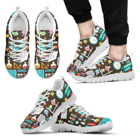 Image of Science Pattern Sneakers - Spicy Prints