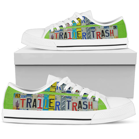 Womens Low Top - White - Trailer Trash