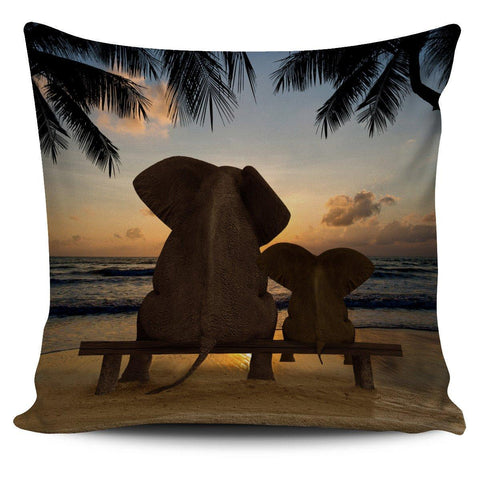 "Elephants 18"" Pillow Cover - Spicy Prints"