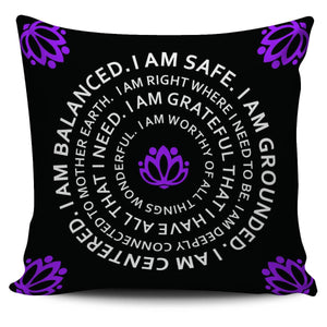 "I Am Balanced Mantra 18"" Pillowcase - Spicy Prints"