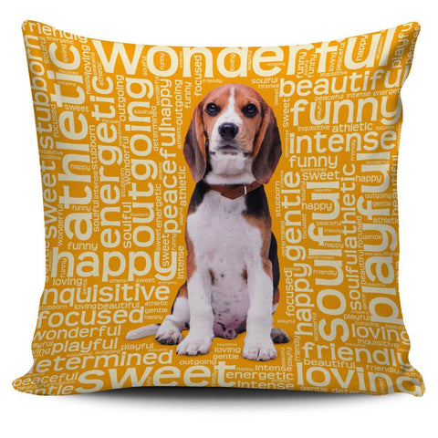 "Beagle Dog 18"" Pillow Covers - Spicy Prints"