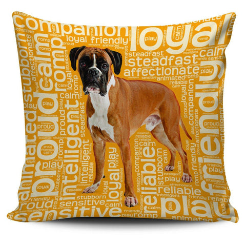"Boxer Dog 18"" Pillow Covers - Spicy Prints"