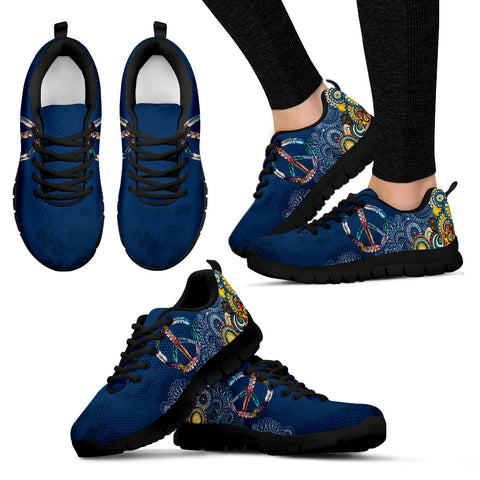 Peace Sign Women's Sneakers