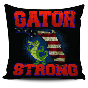 "Gator Strong 18"" Pillow Cover - Spicy Prints"