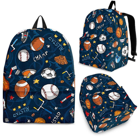 School Sports Design Backpack - Spicy Prints