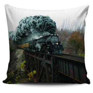 "Classic Trains 18"" Pillow Covers - Spicy Prints"