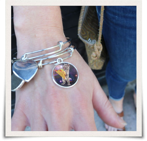 Image of Taco Space Cat Collectible Bangle - Spicy Prints