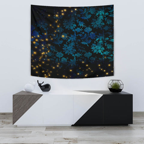 Image of Mystical Stars Wall Tapestry