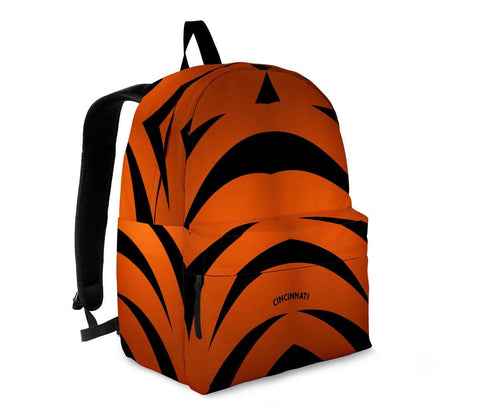 Cincinnati Backpack Orange and Black - Spicy Prints