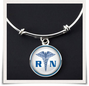 RN Registered Nurse Bangle - Spicy Prints