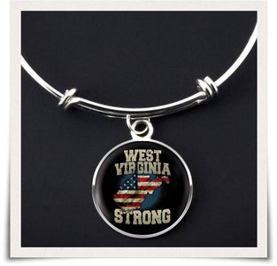 West Virginia Strong Bangle - Spicy Prints
