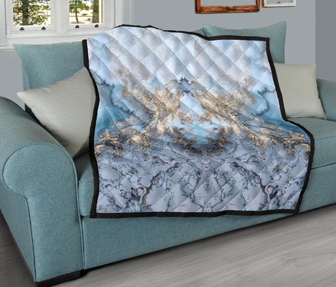 Baby Blue Liquid Gold Quilt