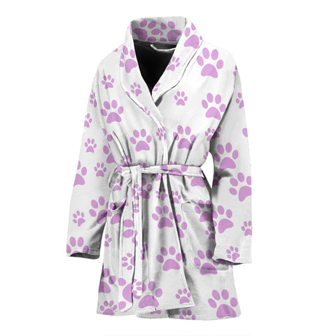 Image of Women's paw prints bath robe