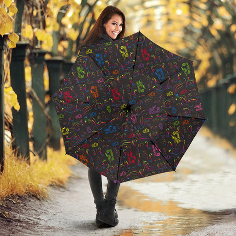 Rainbow Open Road Girl Umbrella