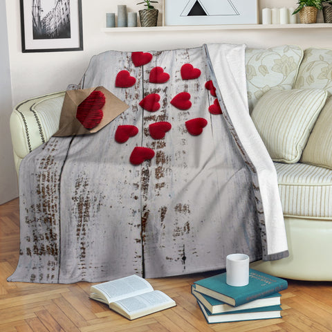 Image of Blank Letter Wood Premium Blanket