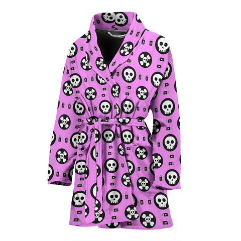 Skulls and Potion Womens Bathrobe