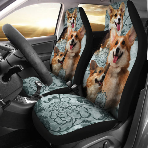 Pembroke Welsh Corgi Car Seat Covers (Set of 2)