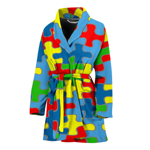 Image of Autism Awareness Women's Bath Robe