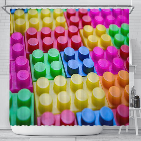 Image of Shower Curtain ~ Lego