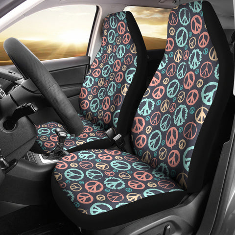 Image of Peace Car Seat Covers