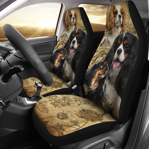 Image of Cavalier King Charles Spaniel Car Seat Covers (Set of 2)