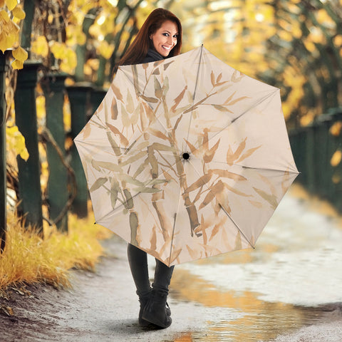 Image of Bamboo umbrella in browns